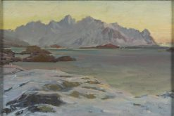 Mountains. Study from North Norway | Anna Boberg | Oil Painting