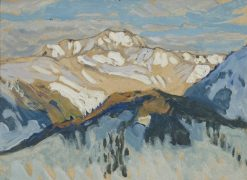 Mountains. Study from Switzerland | Anna Boberg | Oil Painting