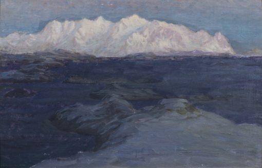 Night over Store Molla. Study from Lofoten | Anna Boberg | Oil Painting
