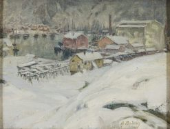 Overcast Weather. Study from North Norway   Anna Boberg   Oil Painting