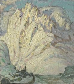 Snowy Mountains. Study from Lofoten   Anna Boberg   Oil Painting