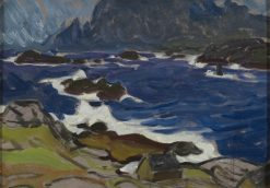 Study during a Storm. From Lofoten   Anna Boberg   Oil Painting