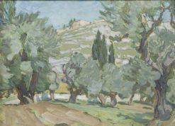 Study from Jerusalem   Anna Boberg   Oil Painting