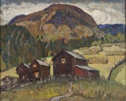 Summer Landscape with Shielings. Study from North Norway   Anna Boberg   Oil Painting