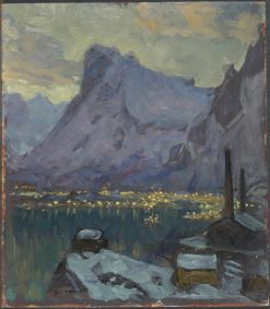 Svolvaer Harbour at the Height of the Fishing Season | Anna Boberg | Oil Painting