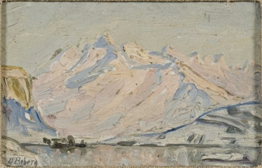 The Sun over Lofoten. Study | Anna Boberg | Oil Painting