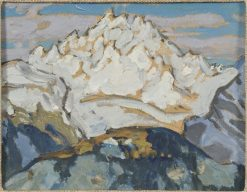 The White Mountain Top. Study from Switzerland | Anna Boberg | Oil Painting