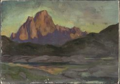 Vaagakallen. Study from Lofoten | Anna Boberg | Oil Painting