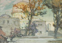 View of Jerusalen. Study | Anna Boberg | Oil Painting