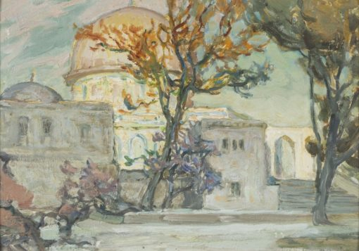 View of Jerusalen. Study   Anna Boberg   Oil Painting