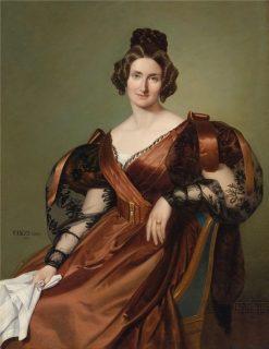 Portrait of a Lady in Elegant Dress | gost Elek Canzi | Oil Painting