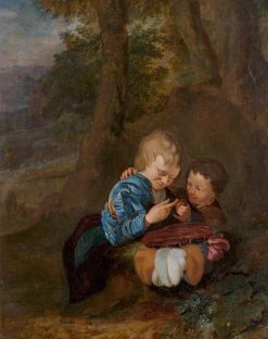 Two Boys with a Bird | Eglon Hendrick van der Neer | Oil Painting