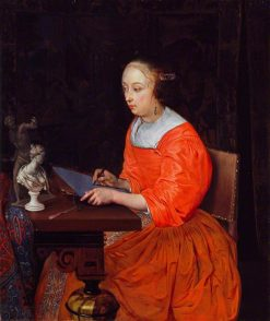 A Lady Drawing | Eglon Hendrick van der Neer | Oil Painting