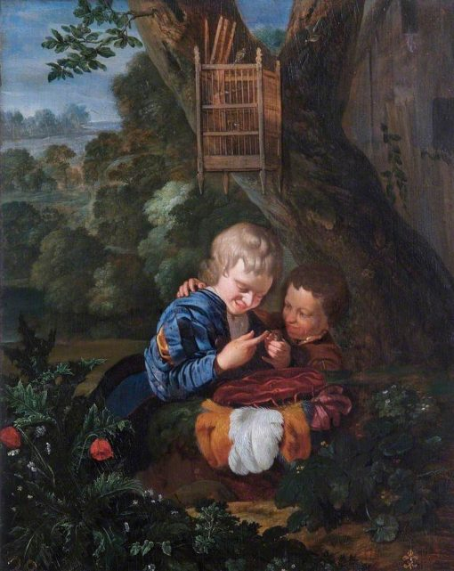 Boys with a Trapped Bird | Eglon Hendrick van der Neer | Oil Painting