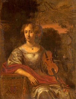 Lady with a Violin | Eglon Hendrick van der Neer | Oil Painting