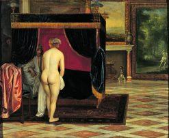 Kandaules Wife Discovering the Hiding Gyges | Eglon Hendrick van der Neer | Oil Painting