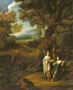 Hagar and Ishmael in the Desert | Eglon Hendrick van der Neer | Oil Painting