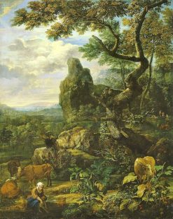 Landscape with Cattle | Eglon Hendrick van der Neer | Oil Painting