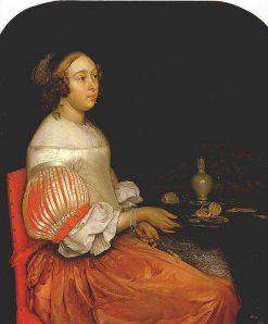 Young Lady at her Breakfast | Eglon Hendrick van der Neer | Oil Painting
