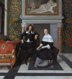 Portrait of a Man and Woman in an Interior | Eglon Hendrick van der Neer | Oil Painting