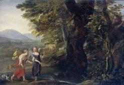 Tobias and Angel | Eglon Hendrick van der Neer | Oil Painting
