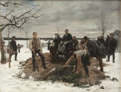 A Funeral in Alsike | Gustaf Cederstrom | Oil Painting