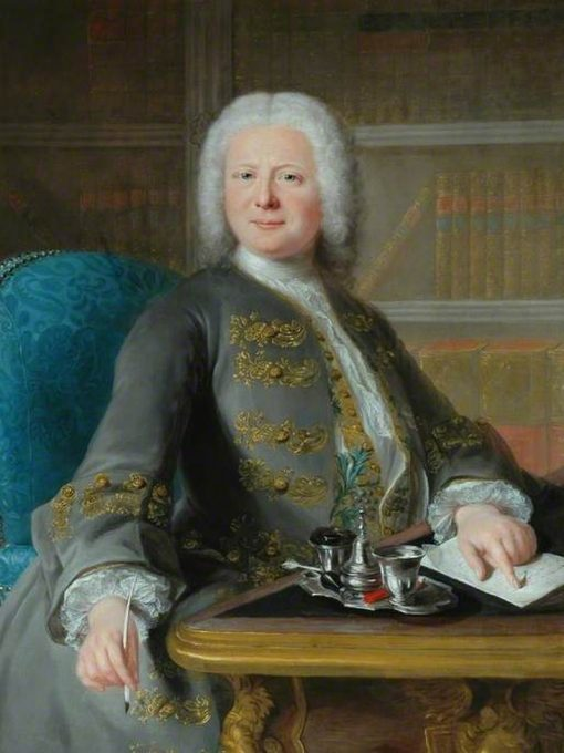Portrait of a Gentleman Writing a Letter | Marianne Loir | Oil Painting