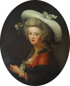 Portrait of an Unknown Lady in a Broad-Brimmed Hat | Marianne Loir | Oil Painting