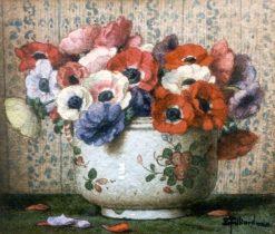 Anemones   Ernest Filliard   Oil Painting