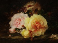 Throw of Roses   Ernest Filliard   Oil Painting