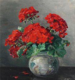 Geranium   Ernest Filliard   Oil Painting