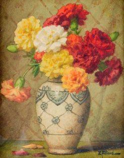Vase of Carnations   Ernest Filliard   Oil Painting