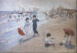 A Beach Scene | Ernesto Valls Sanmartin | Oil Painting