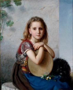 Portrait of a young gypsy girl | Adele Kindt | Oil Painting