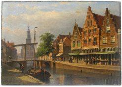 Amsterdam | Edouard Alexander Hilverdink | Oil Painting