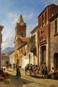 Street in Pascara | Jacques Francois Carabain | Oil Painting