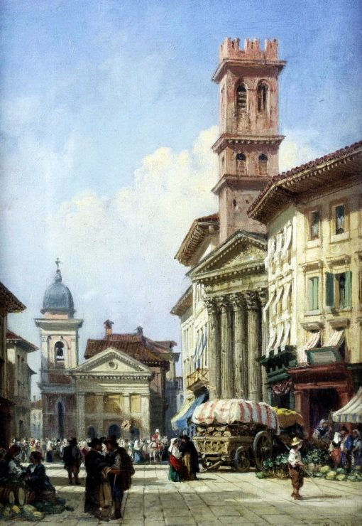 Continental market scene | William Wyld | Oil Painting