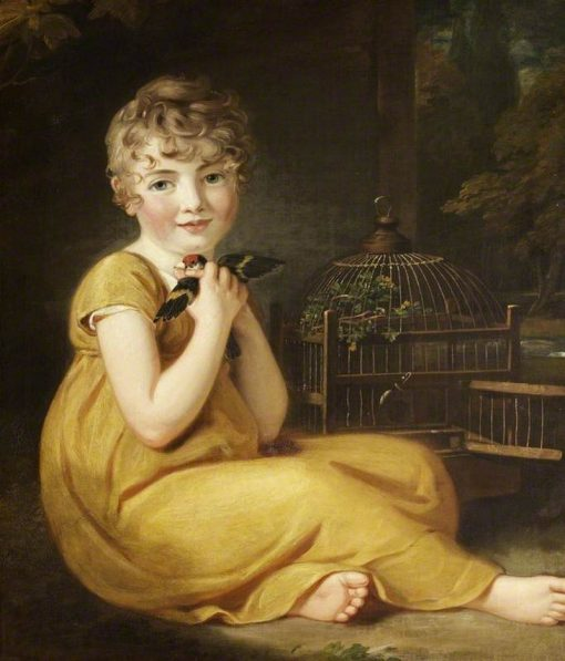 A Child with a Goldfinch | Samuel Woodforde | Oil Painting