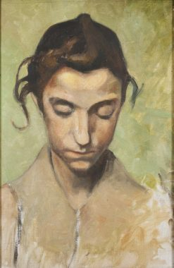 A Girls Head | Olof Sager-Nelson | Oil Painting