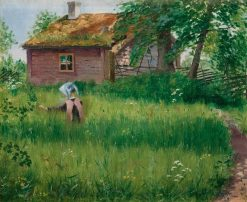 Girl in the Meadow | Olof Sager-Nelson | Oil Painting