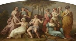 Apollo and the Muses on Parnassus (after Raphael)   Samuel Woodforde   Oil Painting