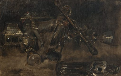Church Plate and Images. Study for Waldemar Atterdag Holding Visby to Ransom | Carl Gustav Hellqvist | Oil Painting