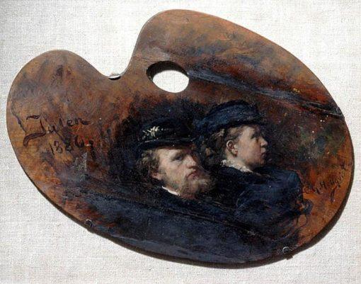 Carl Gustaf Hellqvist and his Wife Julia Thiersch | Carl Gustav Hellqvist | Oil Painting