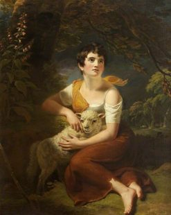 A Shepherdess with a Lamb in a Storm | Samuel Woodforde | Oil Painting