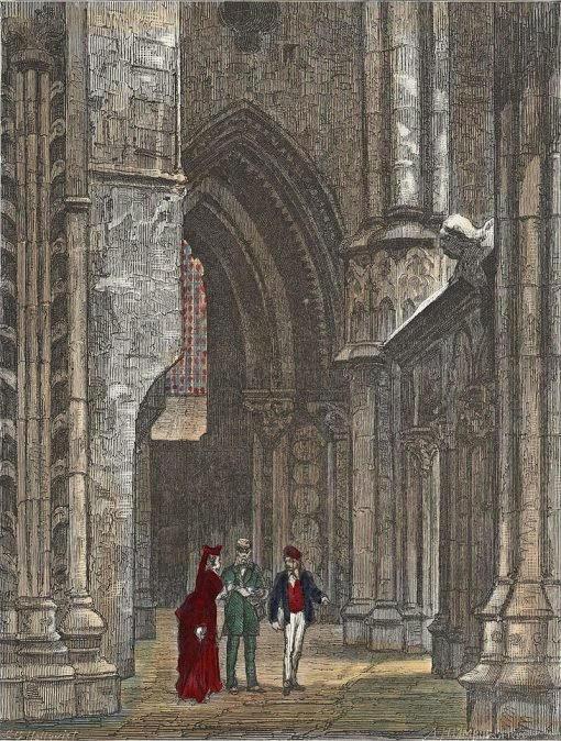 Choir Aisle in Trondhjems Domkirke | Carl Gustav Hellqvist | Oil Painting