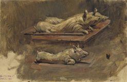 Pigs (Study) | Carl Gustav Hellqvist | Oil Painting