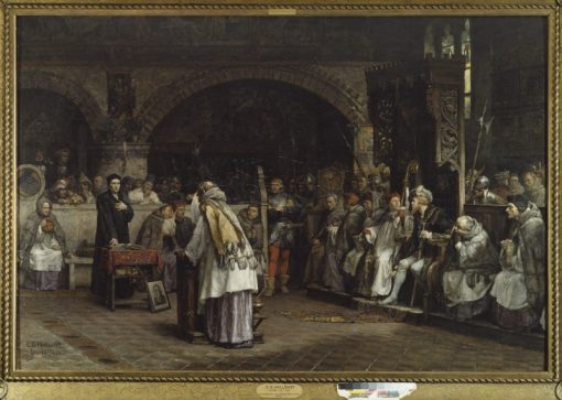 Religious Discourse between Olaus Petri and Peder Galle | Carl Gustav Hellqvist | Oil Painting