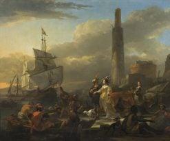 A Harbour Scene | Nicolaes Berchem | Oil Painting