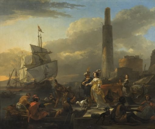 A Harbour Scene | Nicolaes Berchem | Oil Painting