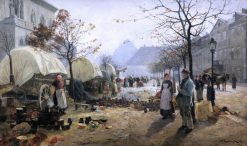 Tableware Market | Friederich Kallmorgen | Oil Painting